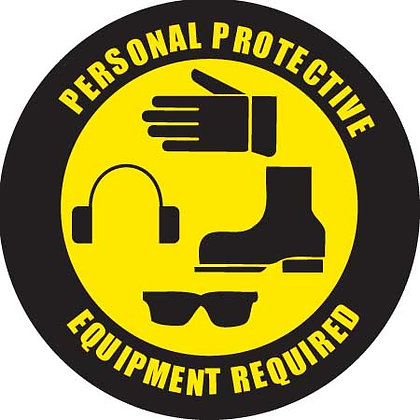 DuraStripe - Circular Safety Signs / Personal Protective Equipment Required