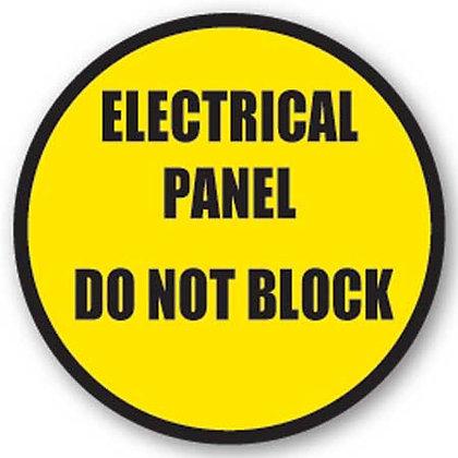 DuraStripe - Circular Safety Signs / Electrical Panel Don't Block