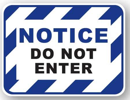 DuraStripe - Rectangular Safety Signs / Notice Do Not Enter