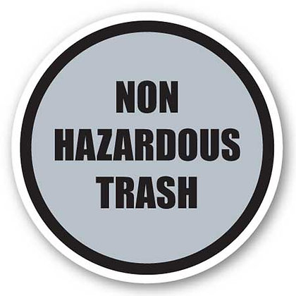 DuraStripe - Circular Safety Signs / Non Hazardous Trash