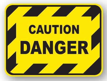 DuraStripe - Rectangular Safety Signs / Caution Danger