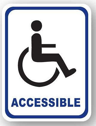 DuraStripe - Rectangular Safety Signs / Accessible