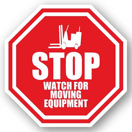 DuraStripe - Stop Signs / Stop Watch for Moving Equipment