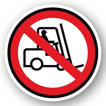 DuraStripe - Circular Safety Signs / No Forklift