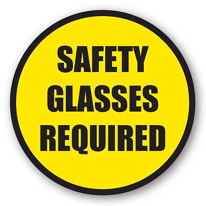 DuraStripe - Circular Safety Signs / Safety Glasses Required