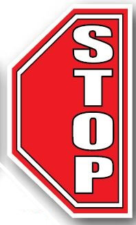 DuraStripe - Side-Stop & Half Signs / Stop Right