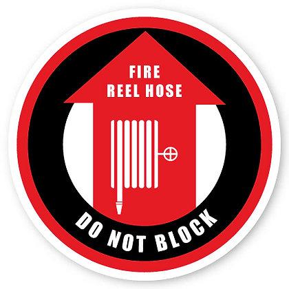 DuraStripe - Circular Safety Signs / Fire Wheel Do Not Block