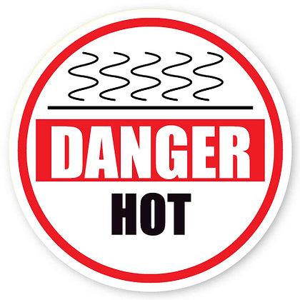DuraStripe - Circular Safety Signs / Danger Hot