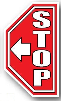 DuraStripe - Side-Stop & Half Signs / Stop with Arrow Right