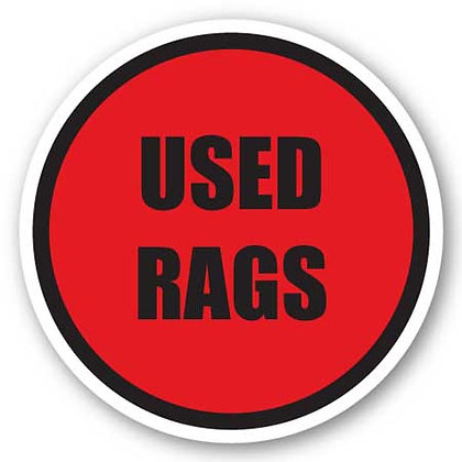 DuraStripe - Circular Safety Signs / Used Rags