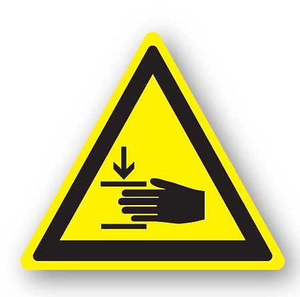 DuraStripe - Warning Signs / Hand Crush Hazard