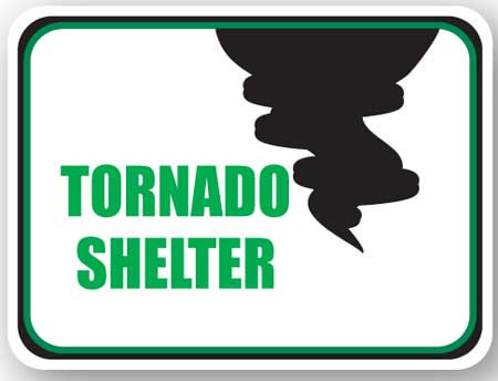 DuraStripe - Rectangular Safety Signs / Tornado Shelter