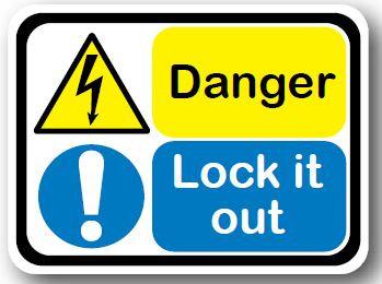 DuraStripe - Rectangular Safety Signs / Danger Lock It Out