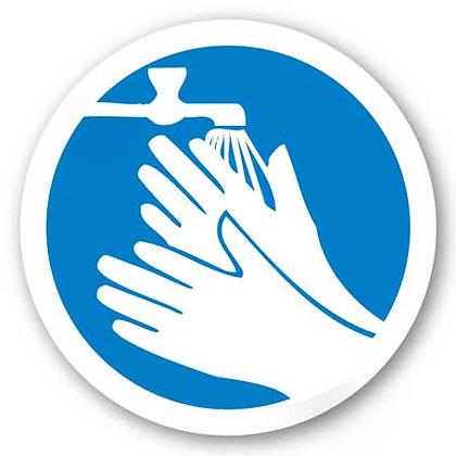 DuraStripe - Circular Safety Signs / Wash Hands