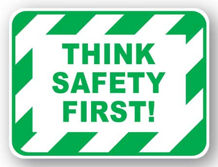 DuraStripe - Rectangular Safety Signs / Think Safety First