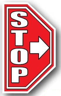 DuraStripe - Side-Stop & Half Signs / Stop with Arrow Left