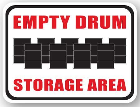 DuraStripe - Rectangular Safety Signs / Empty Drum Storage Area