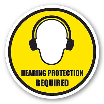 DuraStripe - Circular Safety Signs / Hearing Protection Required