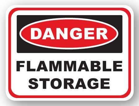 DuraStripe - Rectangular Safety Signs / Danger Flammable Storage