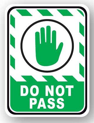 DuraStripe - Rectangular Safety Signs / Do Not Pass
