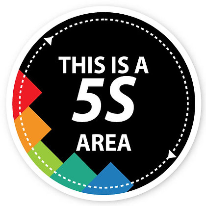 DuraStripe - Circular Safety Signs / 5S Area