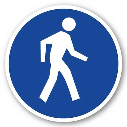 DuraStripe - Circular Safety Signs / Pedestrian Traffic