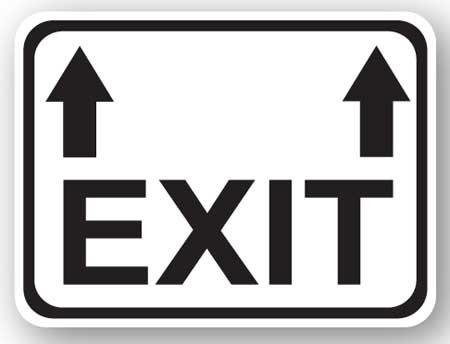 DuraStripe - Rectangular Safety Signs / Exit