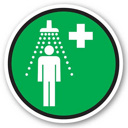 DuraStripe - Circular Safety Signs / Emergency Shower