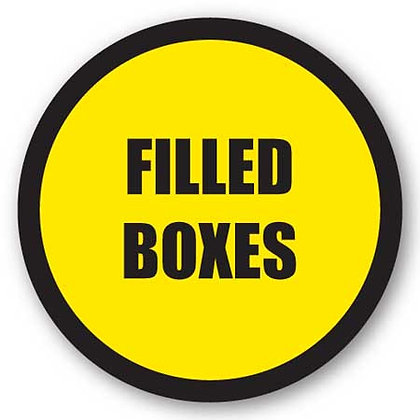 DuraStripe - Circular Safety Signs / Filled Boxes