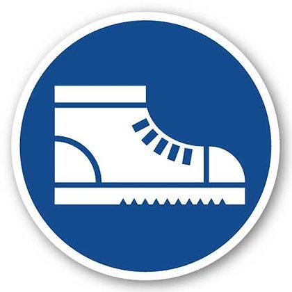 DuraStripe - Circular Safety Signs / Safety Footwear Required