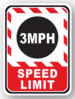 DuraStripe - Rectangular Safety Signs / 3MPH Speed Limit
