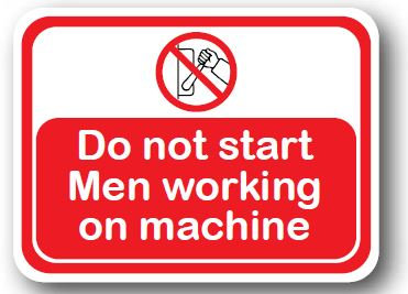 DuraStripe - Rectangular Safety Signs / Do Not Start Men Working
