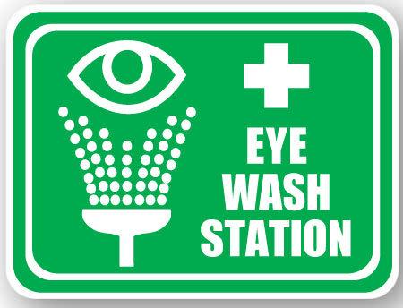 DuraStripe - Rectangular Safety Signs / Eye Wash Station