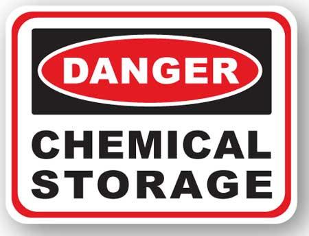 DuraStripe - Rectangular Safety Signs / Danger Chemical Storage