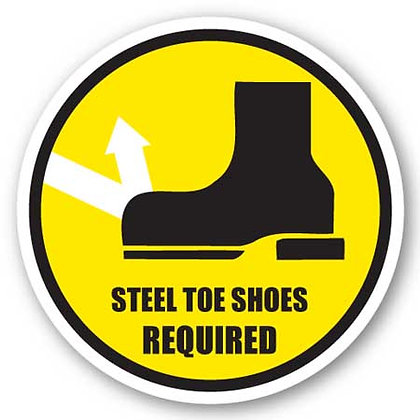 DuraStripe - Circular Safety Signs / Steel Toe Shoes Required