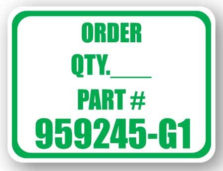 DuraStripe - Rectangular Safety Signs / Order Quantity Part#