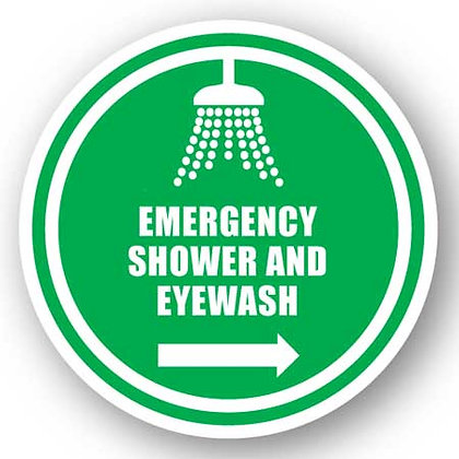DuraStripe - Circular Safety Signs / Emergency Shower and Eyewash
