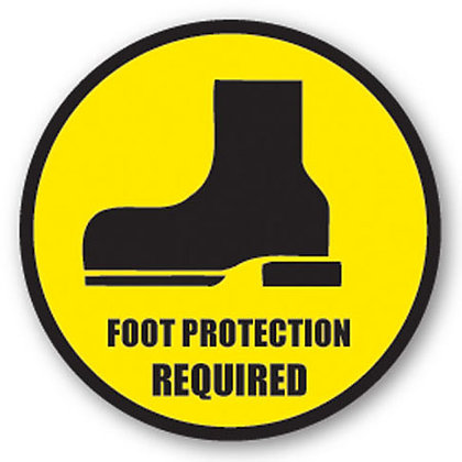 DuraStripe - Circular Safety Signs / Foot Protection Required