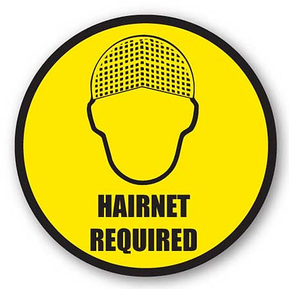 DuraStripe - Circular Safety Signs / Hairnet Required