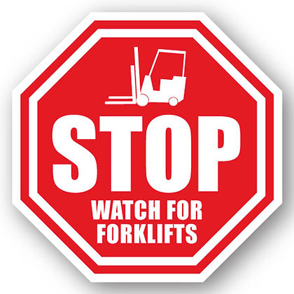 DuraStripe - Stop Signs / Stop Watch for Forklifts