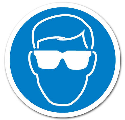 DuraStripe - Circular Safety Signs / Eye Protection Required