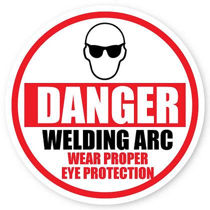 DuraStripe - Circular Safety Signs / Danger Welding Arc