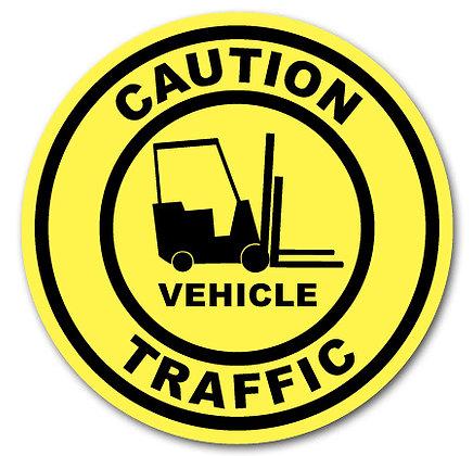 DuraStripe - Circular Safety Signs / Caution Vehicle Traffic