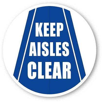 DuraStripe - Circular Safety Signs / Keep Aisles Clear
