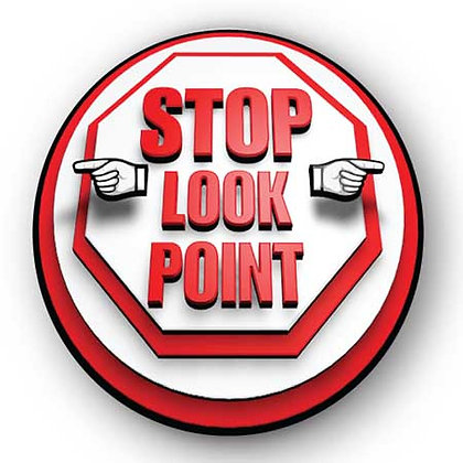 DuraStripe - Circular Safety Signs / Stop Look Point