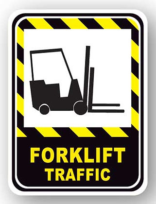 DuraStripe - Rectangular Safety Signs / Forklift Traffic
