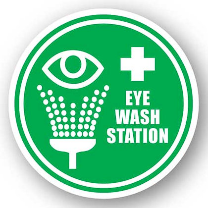 DuraStripe - Circular Safety Signs / Eye Wash Station