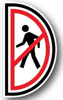 DuraStripe - Side-Stop & Half Signs / No Pedestrian Left
