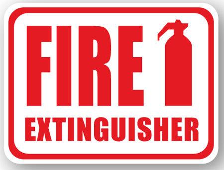 DuraStripe - Rectangular Safety Signs / Fire Extinguisher