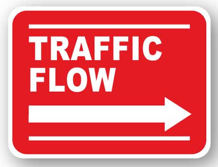 DuraStripe - Rectangular Safety Signs / Traffic Flow